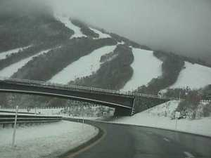 Cannon Mountain Ski Area by the bridge for Parkway Exit 3 for NH Route 18.