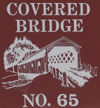 Covered bridge number 65 sign