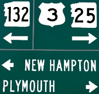 Junction NH route 132 sign