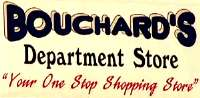 Sign and link to Bouchard's Department Store, Colebrook, NH