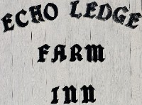 Echo Ledge Farm Inn Sign, Vermont ROute 2, East St. Johnsbury, Vermont, USA, Lodging, B&B, Bed and Breakfast, antiques, antique ahop, antique, shop,