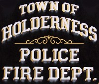 Holderness Police and Fire Department signs