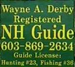 Link to Wayne Derby Registered NH guide