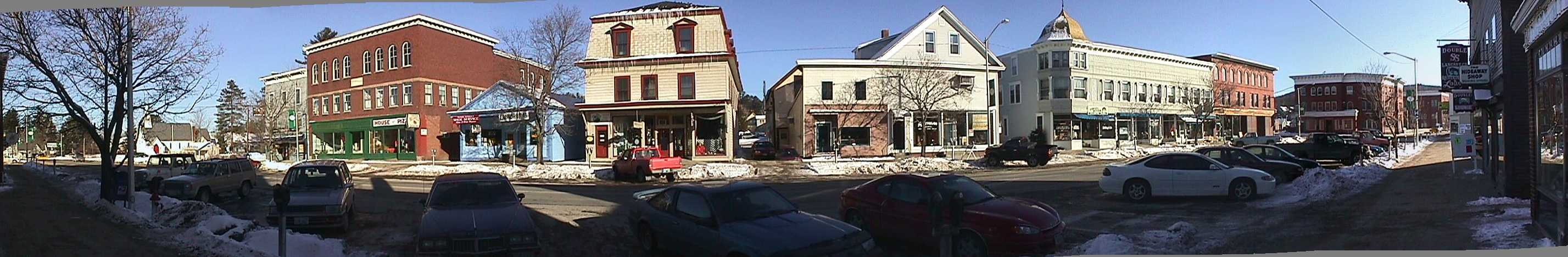 Panorama of Lancaster, NH by Rialto Theater.