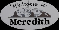Welcome to Meredith sign