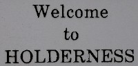 Welcome to Holderness NH New Hampshire sign